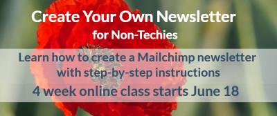Create Mailchimp newsletter June class