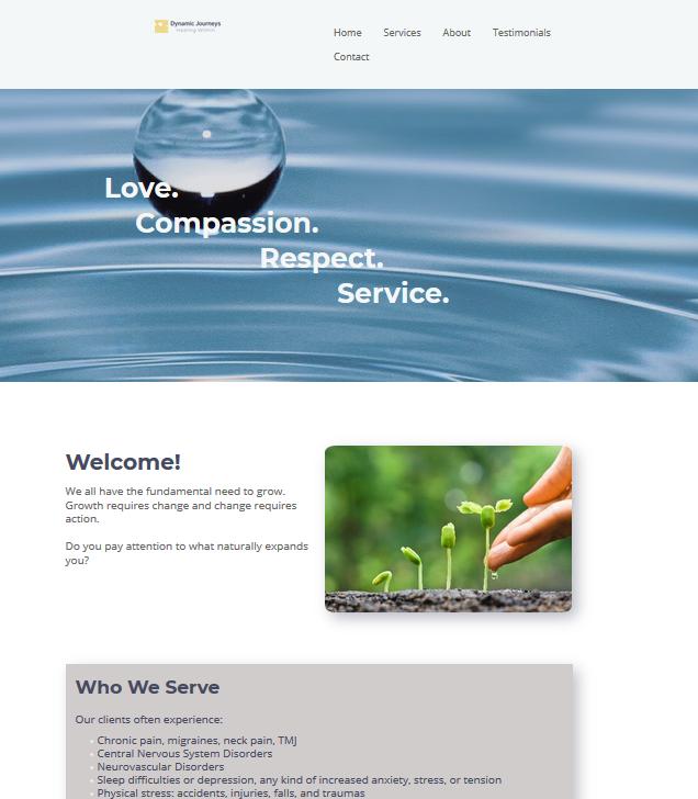 website design example 2