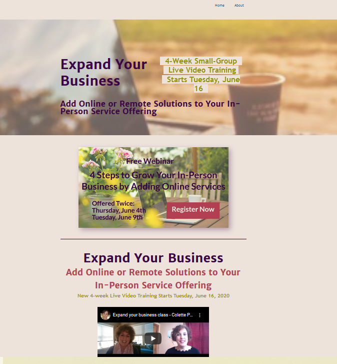 website design example 3