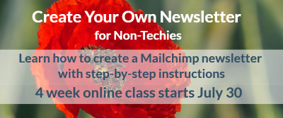 Create Mailchimp newsletter July class